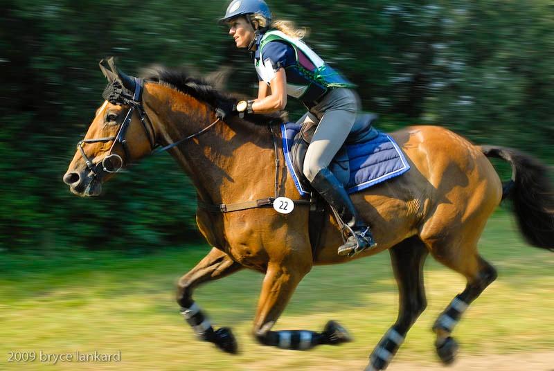Full gallop.