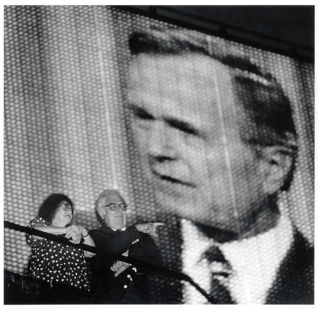A Political Scene: George H. Bush gives his acceptance speech of the nomination for President at the 1988 Republican National Convention. At the New Orleans Superdome.