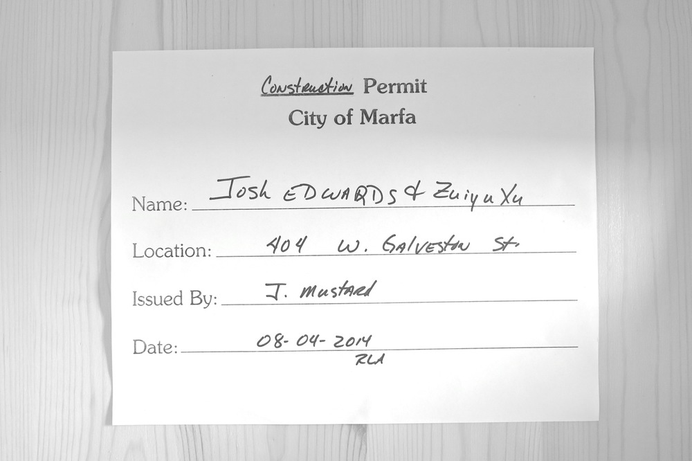 4 August 2014: Here it is! Our official construction permit. Yep.