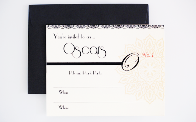 Oscar Party Printable Invitations