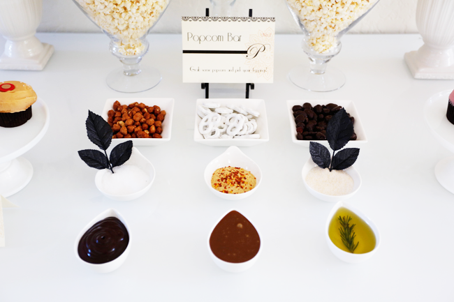 Oscars Party Popcorn Bar