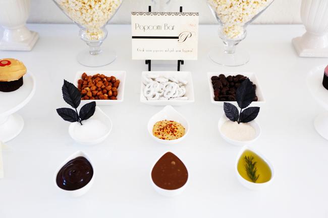 Oscars Party Popcorn Bar