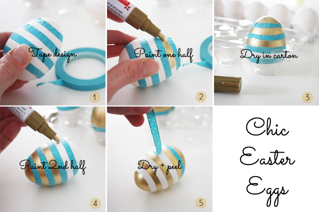 Chic White Gold Easter Eggs Kristi Murphy Diy Blog
