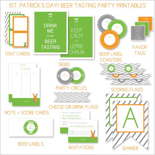 St Patricks Day Beer Tasting Party Printables Kristi Murphy – Beer Tasting Party Invitations