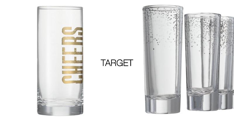 Gold Target Glassware DIY