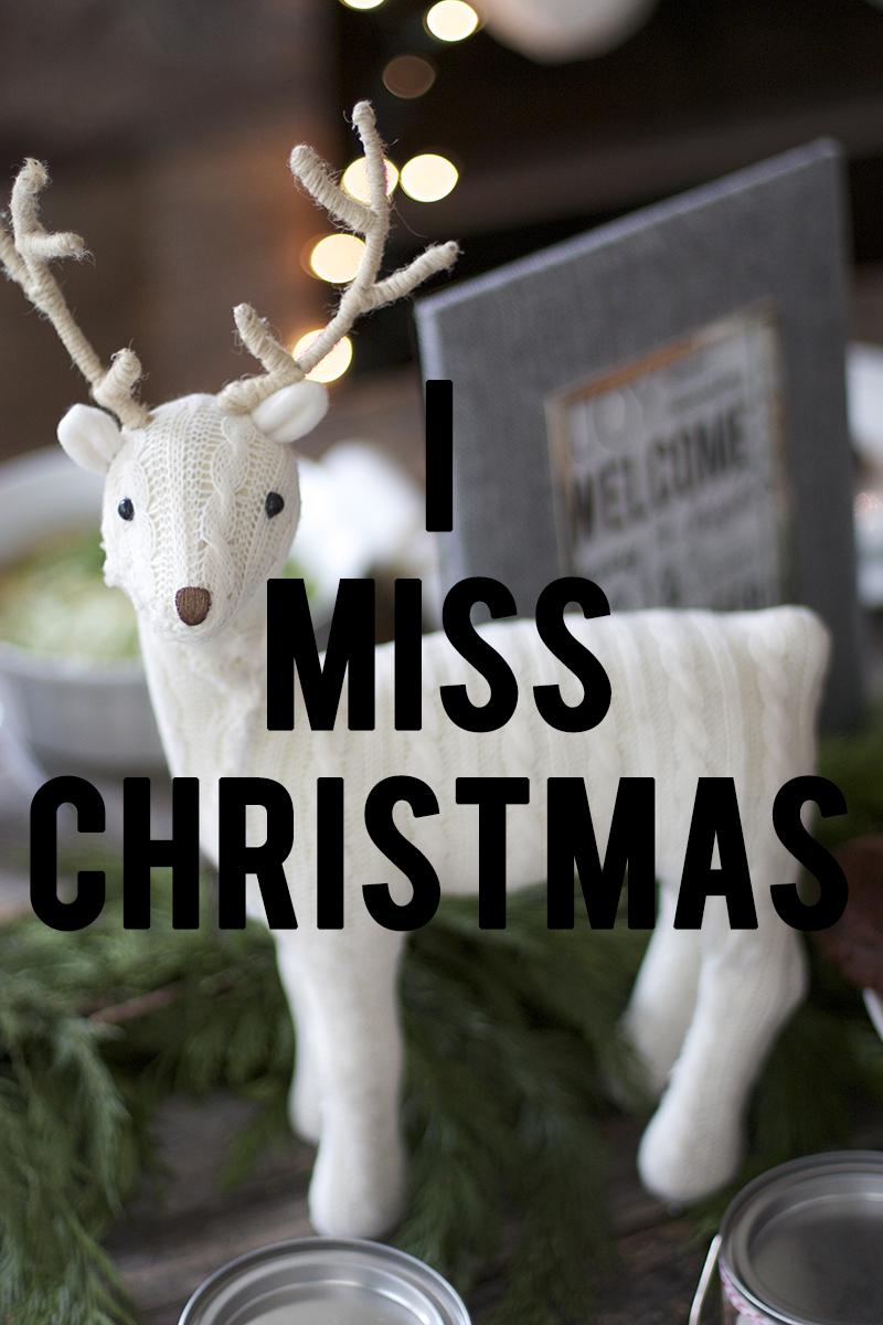 I Miss Christmas Print