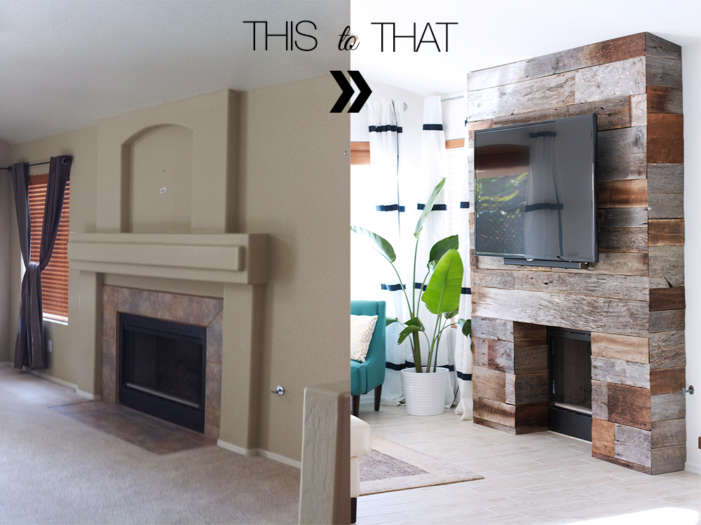 Reclaimed Wood Fireplace - DIY Reclaimed Wood Fireplace €� Kristi Murphy Do It Yourself Blog