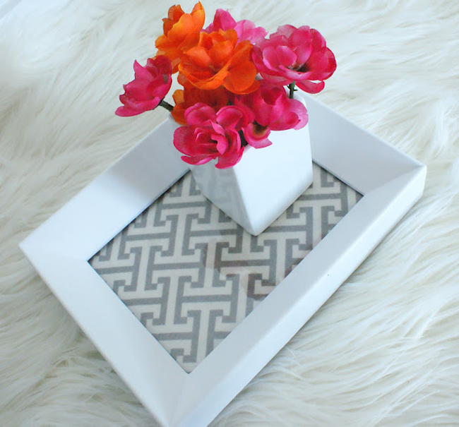 Make A Chic Tray From A 2 Frame Kristi Murphy Diy Blog