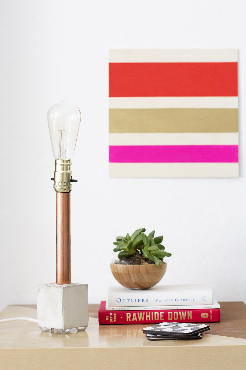 Copper + Cement Lamp