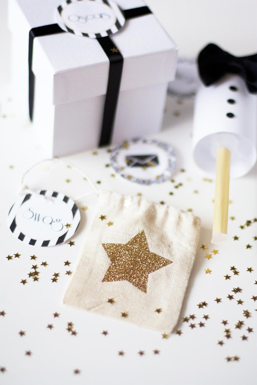 Glitter Star Muslin Bags