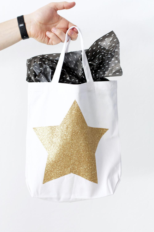 Glitter Star Tote