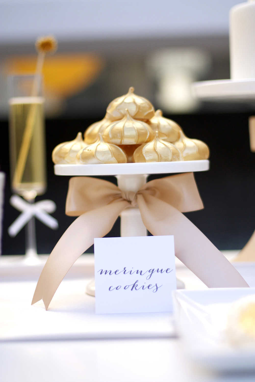 gold shimmer meringues  u2014 kristi murphy