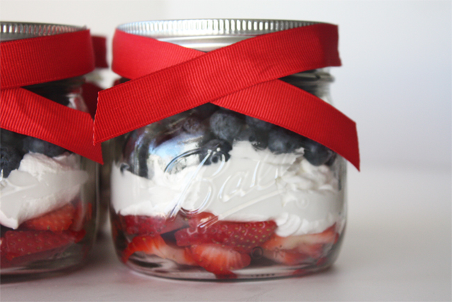 Red, White, + Blue Fruit Parfaits