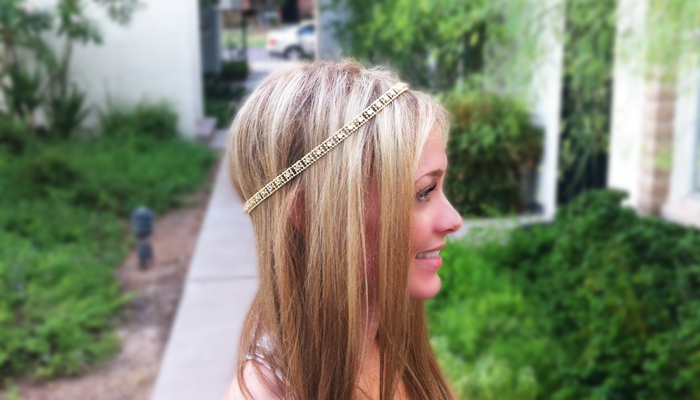 DIY Gold Headband