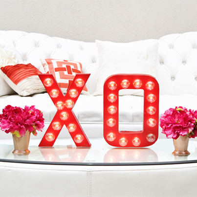 XO Marquee Sign