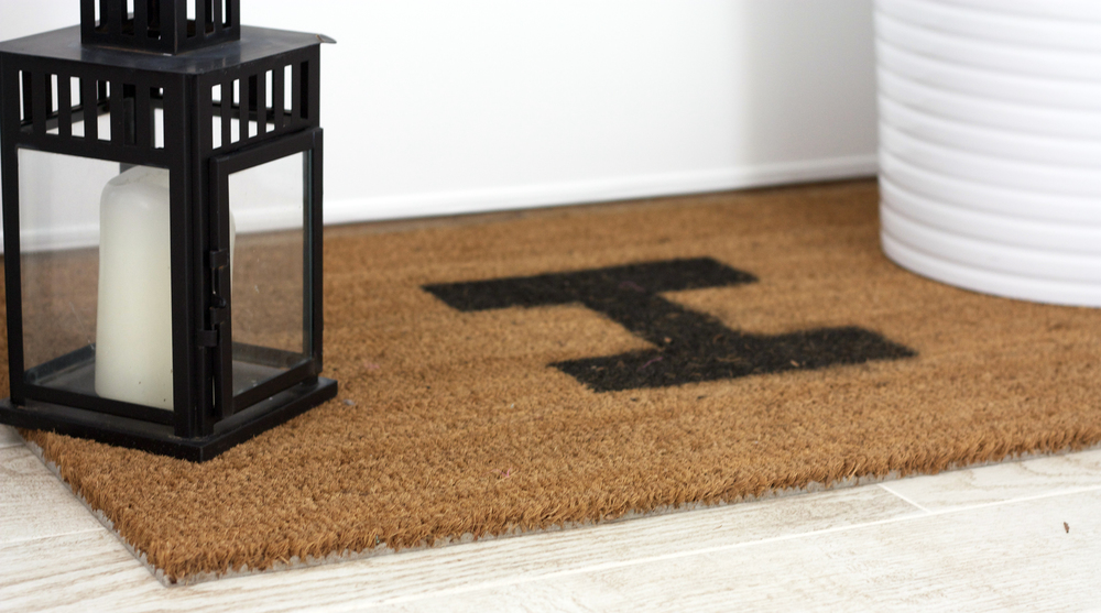 Monogram Door Mat IKEA Hack
