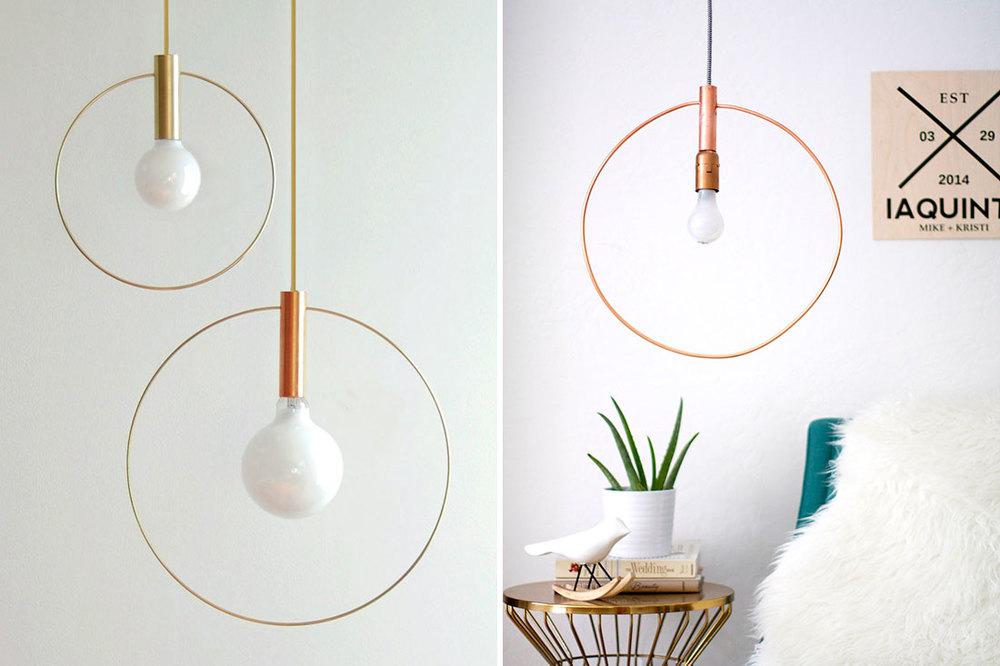 Chic Just Got Cheap: DIY This $375 Pendant Light for $60!  Kristi Murphy |  DIY Blog
