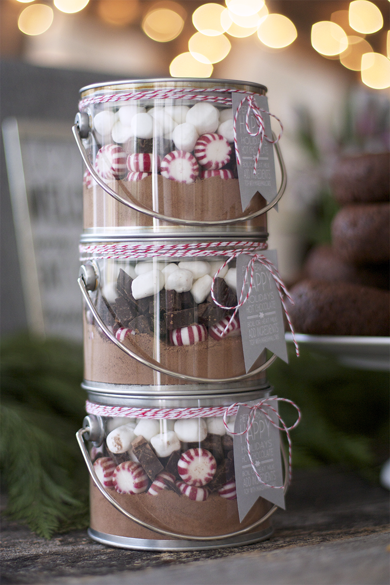 Peppermint Hot Cocoa Jars