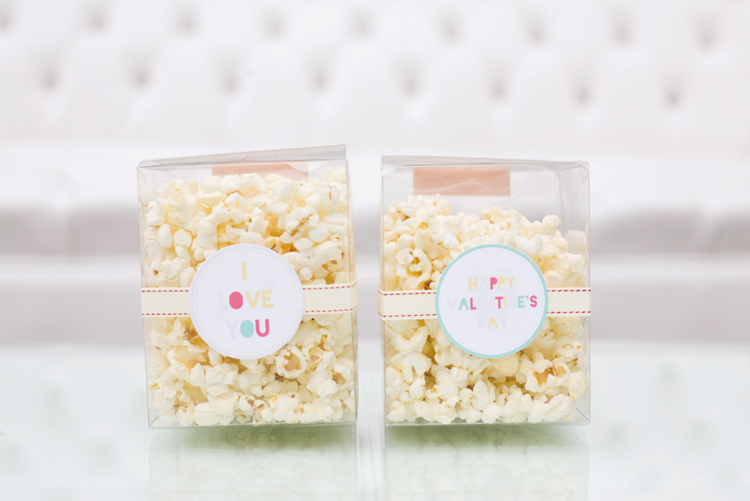 Valentine's Day Popcorn Favors