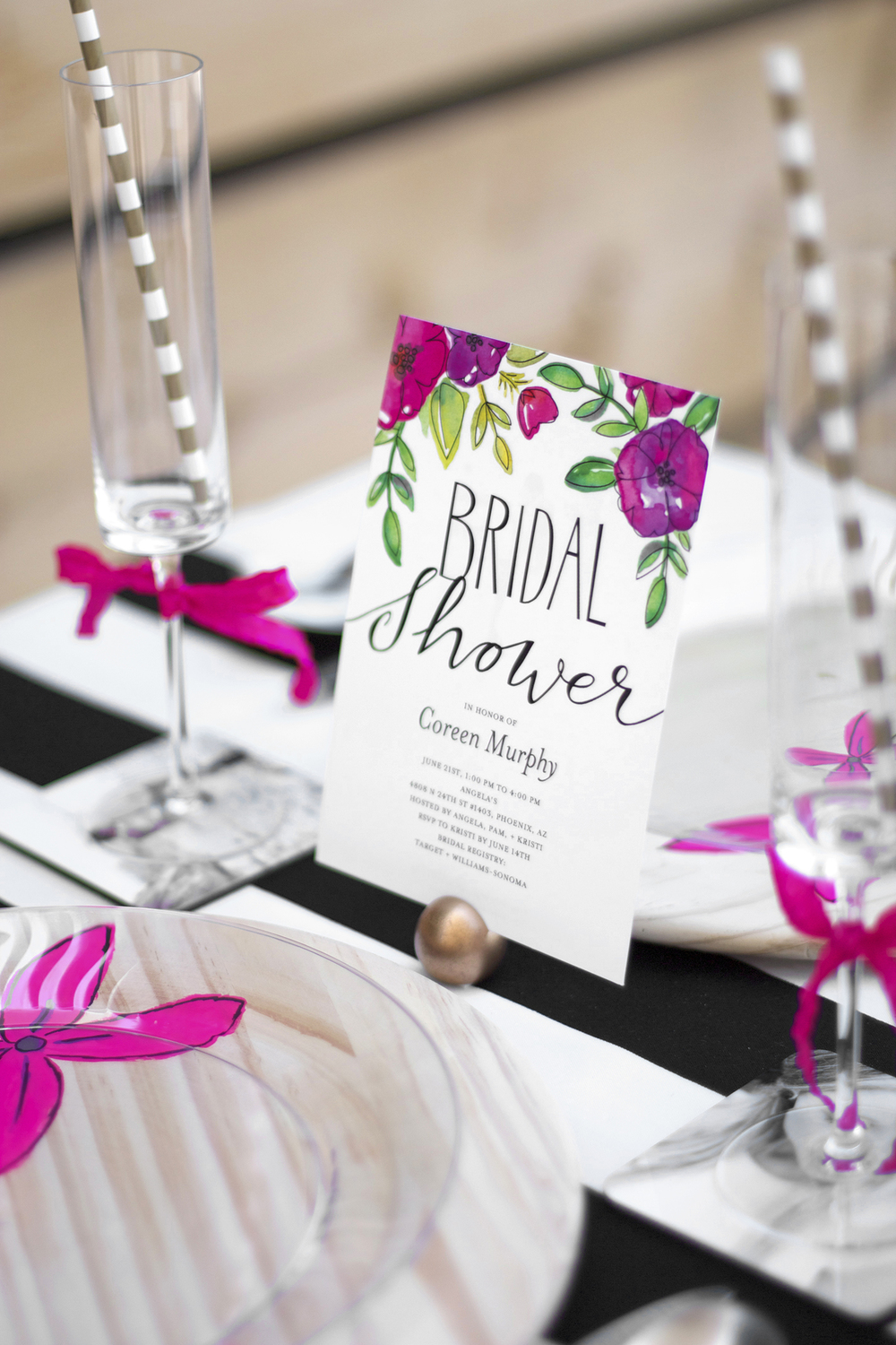 bridal shower table ideas