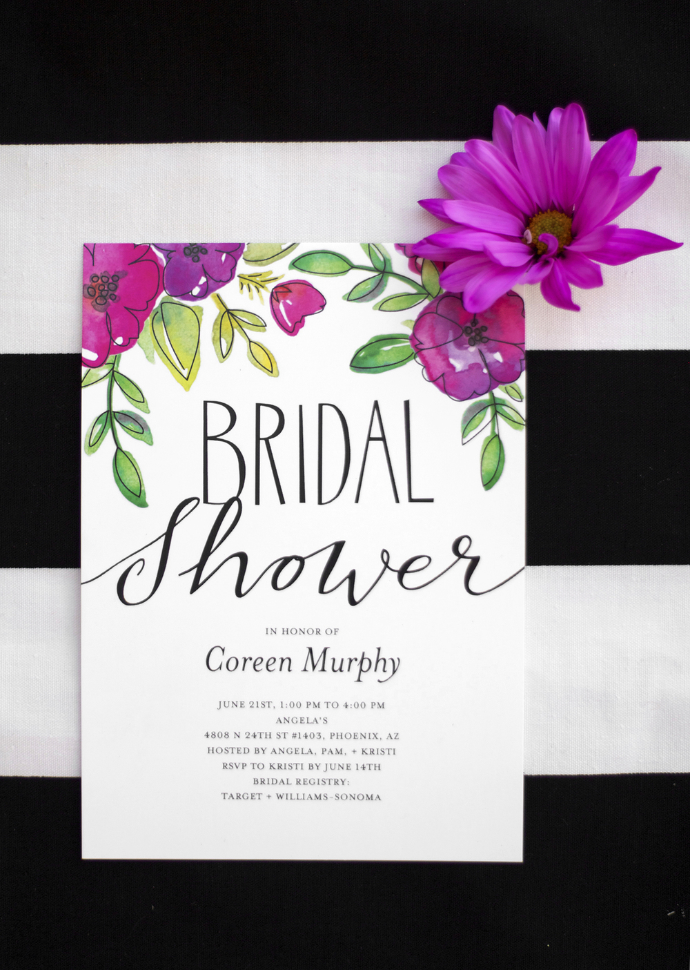 Flower Bridal Shower Invitations