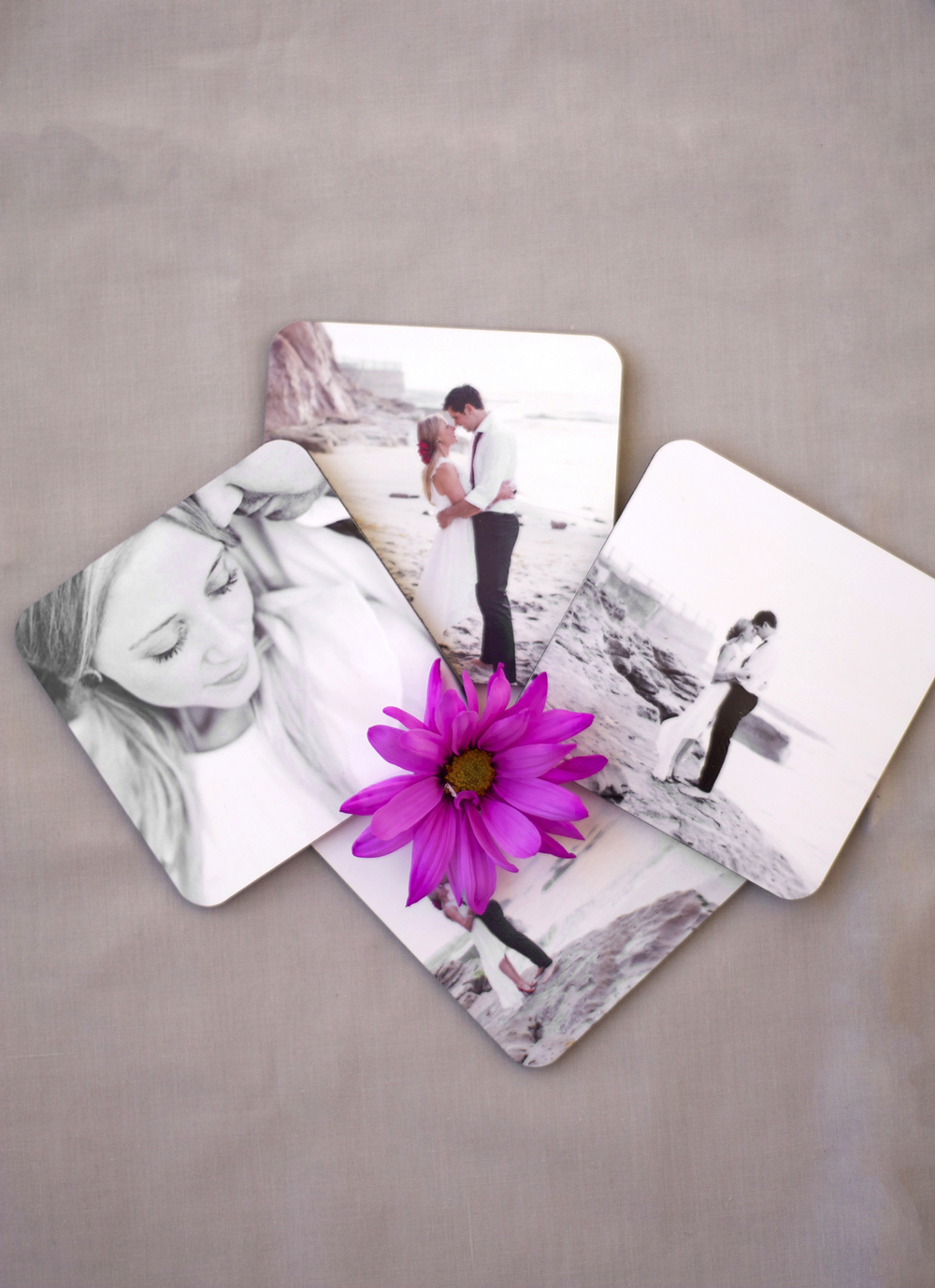 Wedding Gift Engraving Ideas Suggestions : The coasters also can double as display photos to scatter around the ...