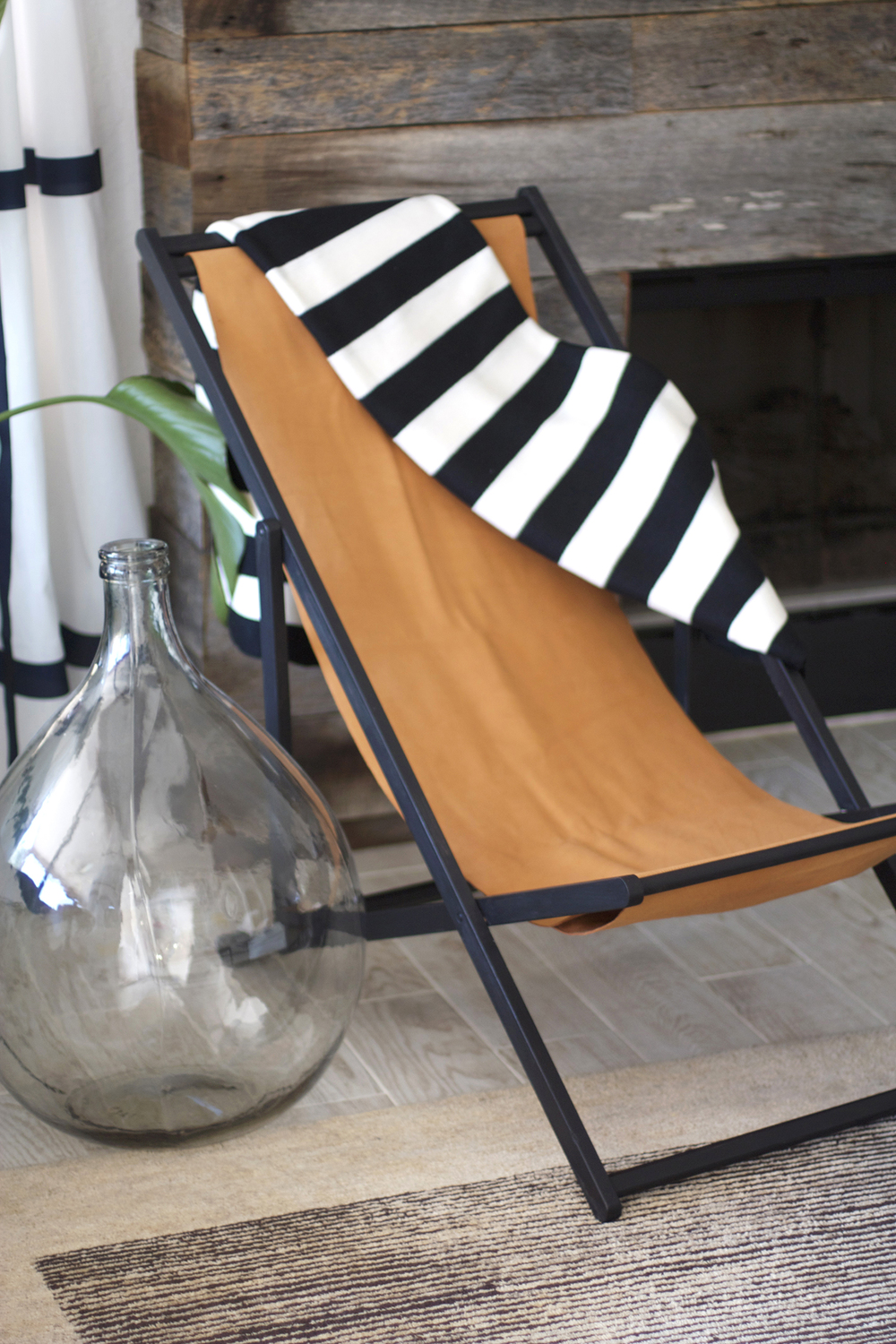 Wooden beach chair back - Diy Sling Chair