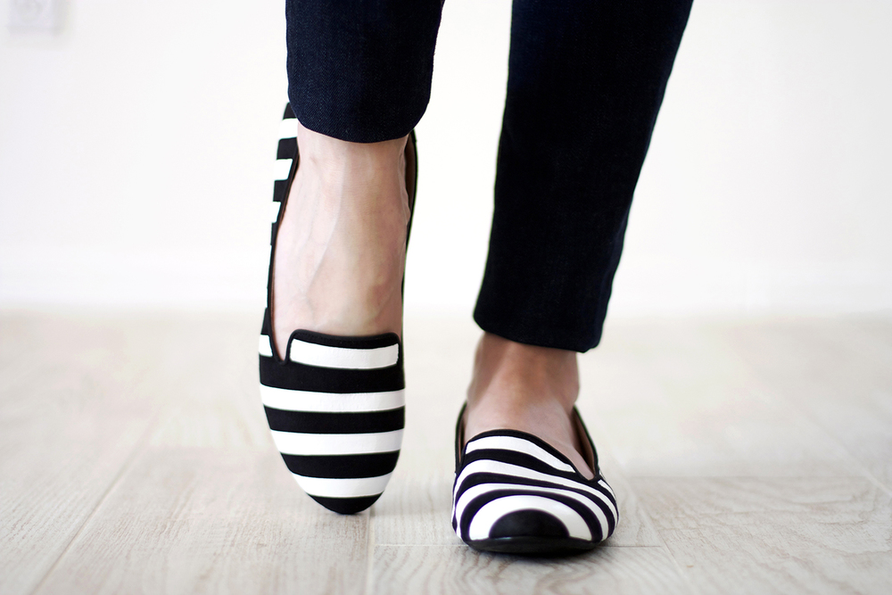 DIY Striped Loafers