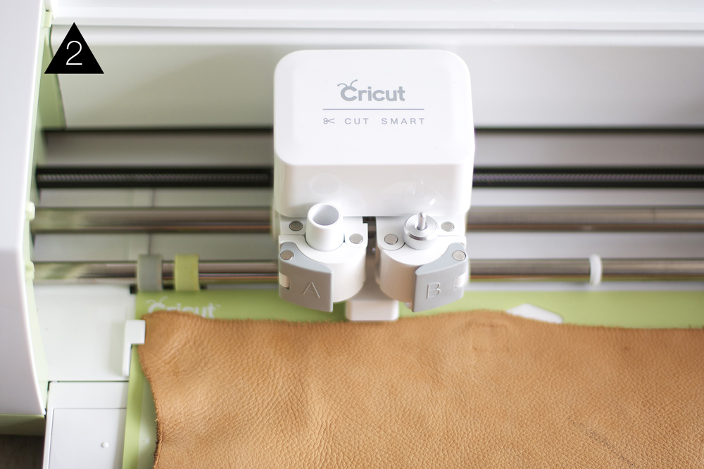 cutting leather with a Cricut Explore