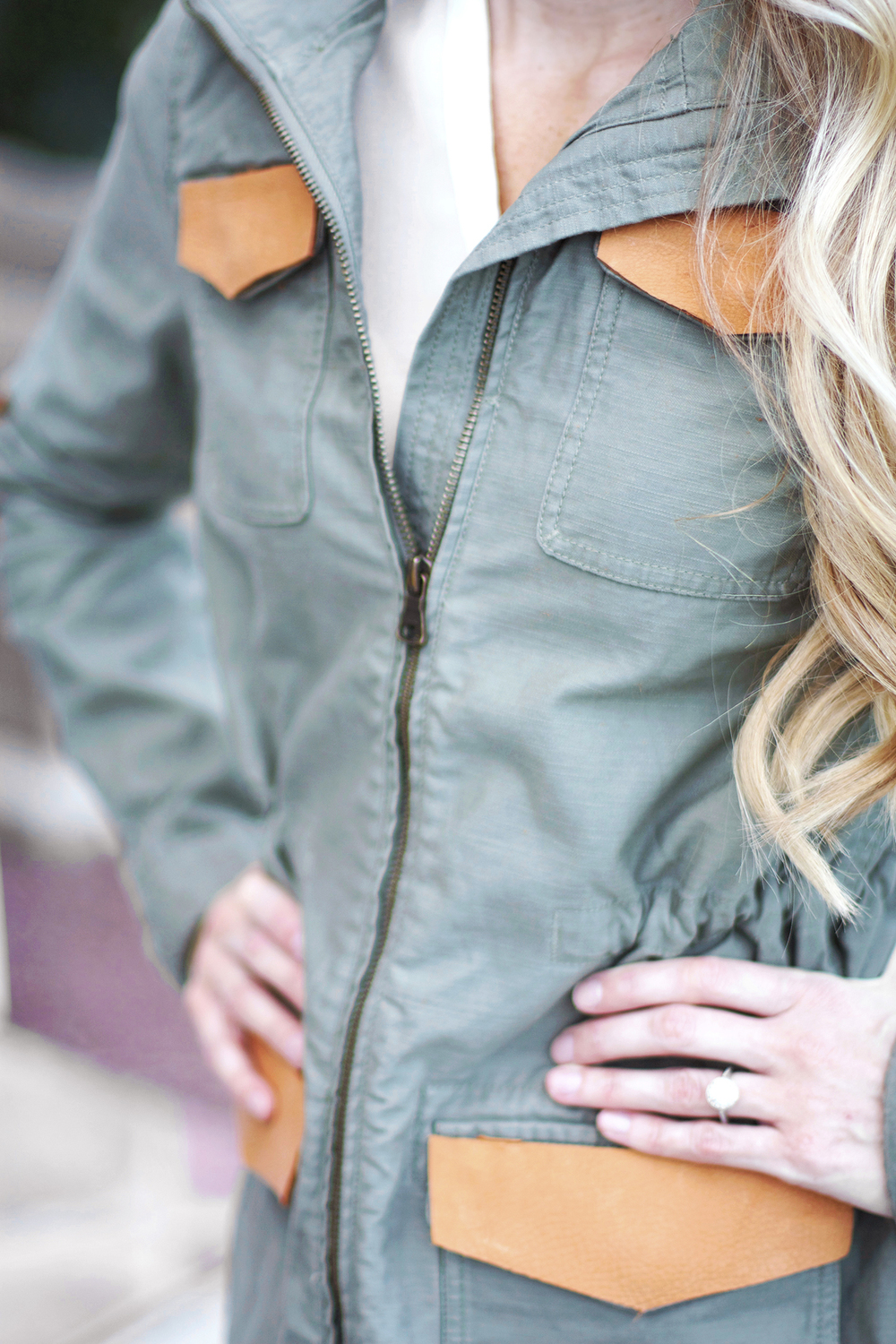 DIY embellished military jacket