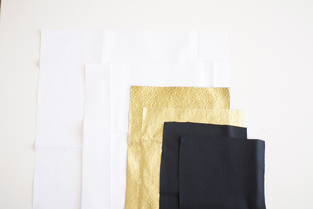 gold envelope pillow DIY