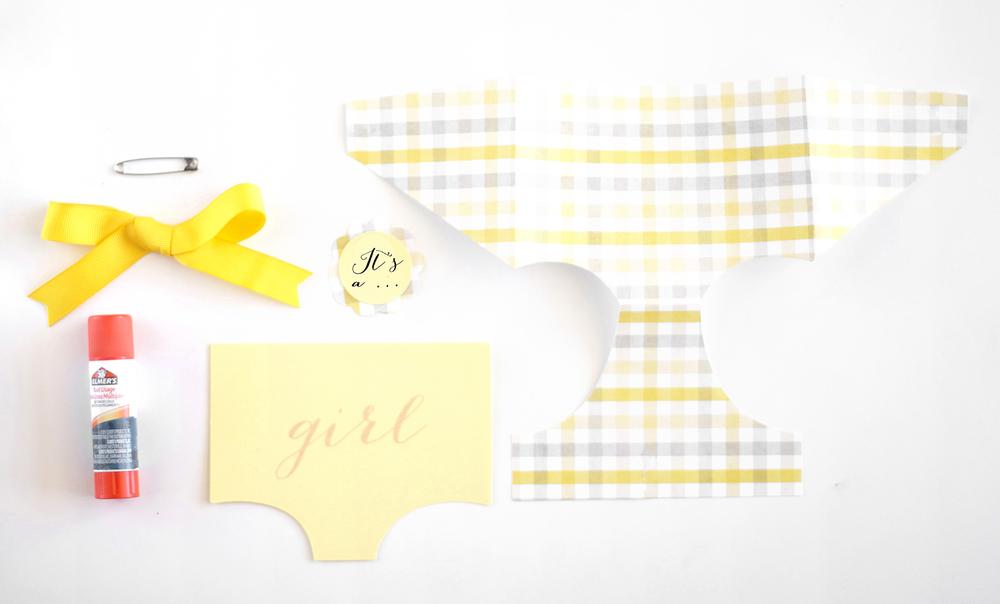 printable gender reveal card