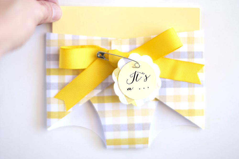 Cricut baby shower projects