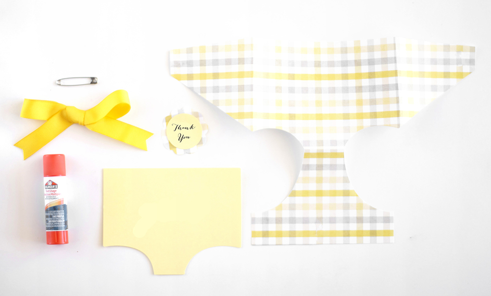 diaper favor tag supplies