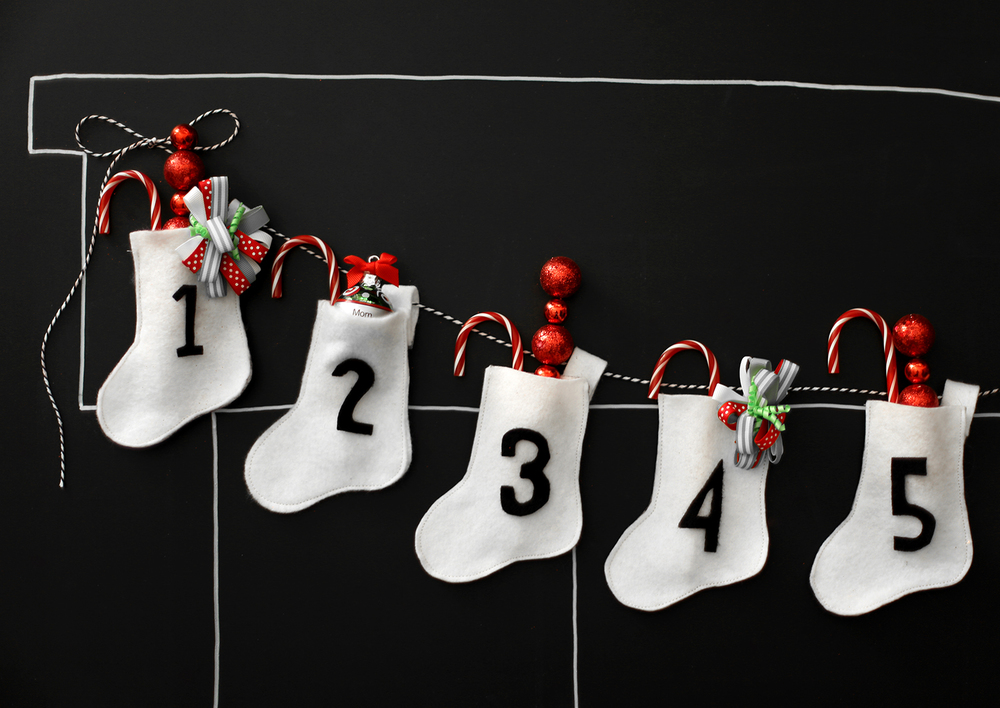 stocking advent calendar
