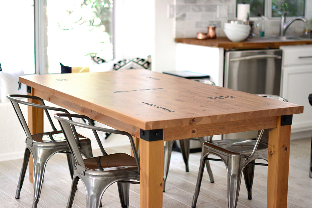 DIY kitchen table