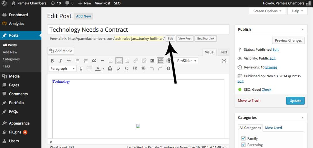 changing blog post url in Wordpress