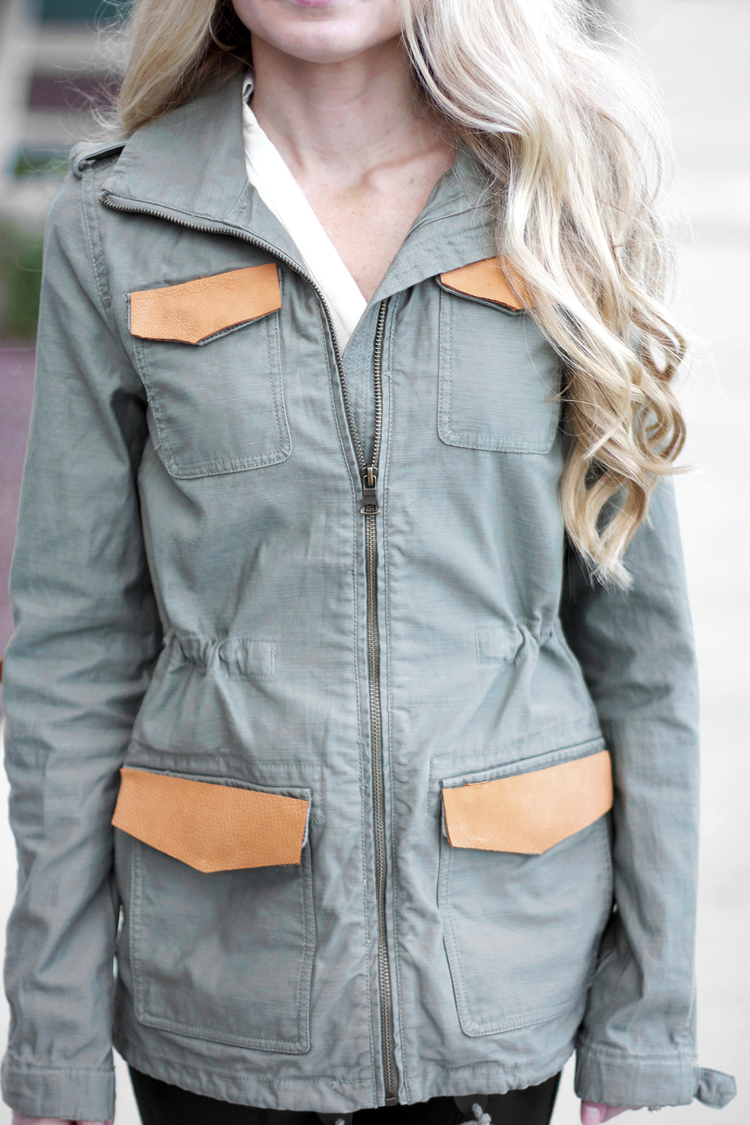 No Sew Embellished Military Jacket