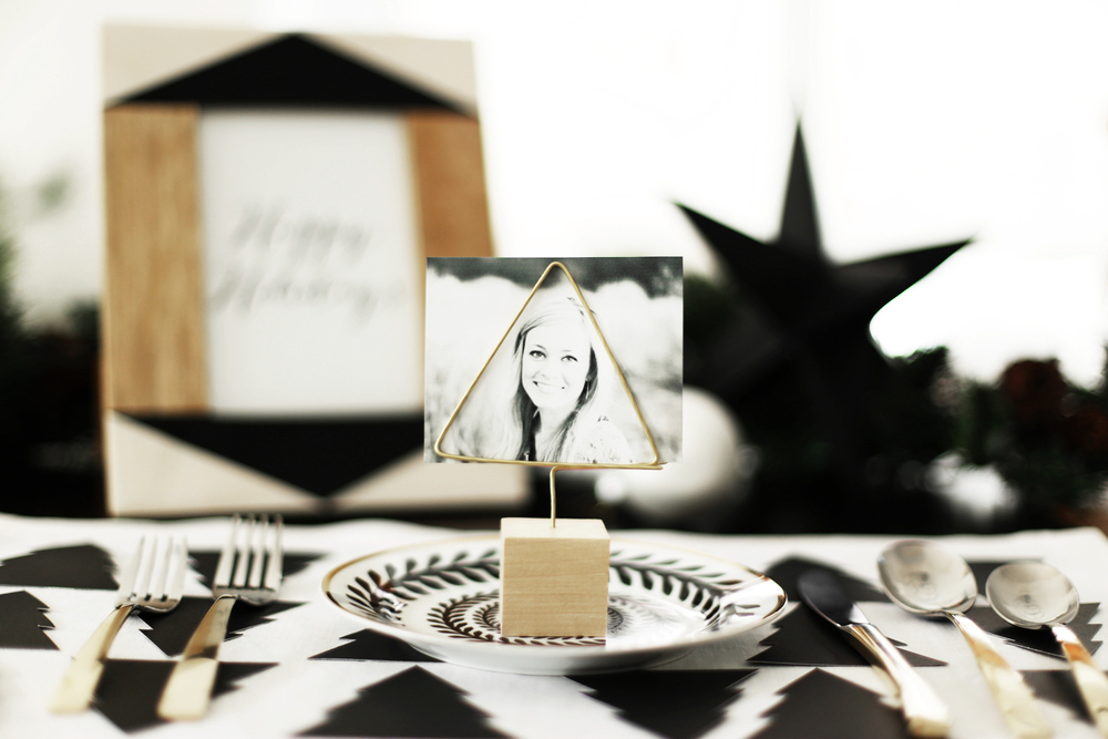 DIY Christmas place cards