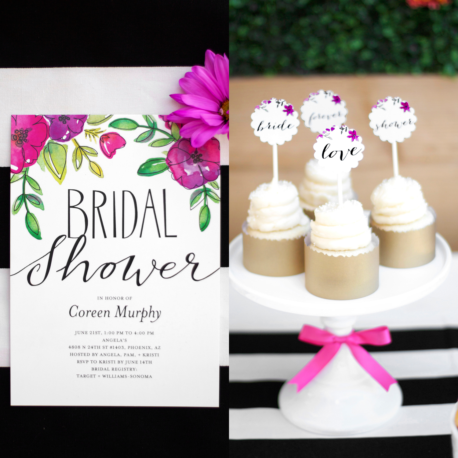 Garden Party Bridal Shower Party Printables — Kristi Murphy | DIY Blog