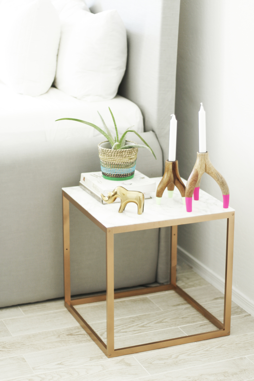 Cheap Nightstand Ideas Part - 23: IKEA Hack Nightstand