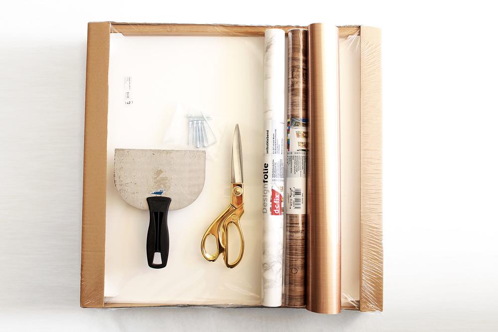 DIY nightstand supplies