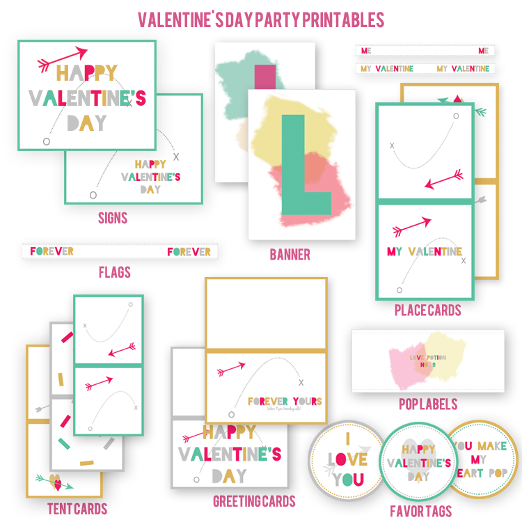 Valentine's Day Party Printables Kristi Murphy