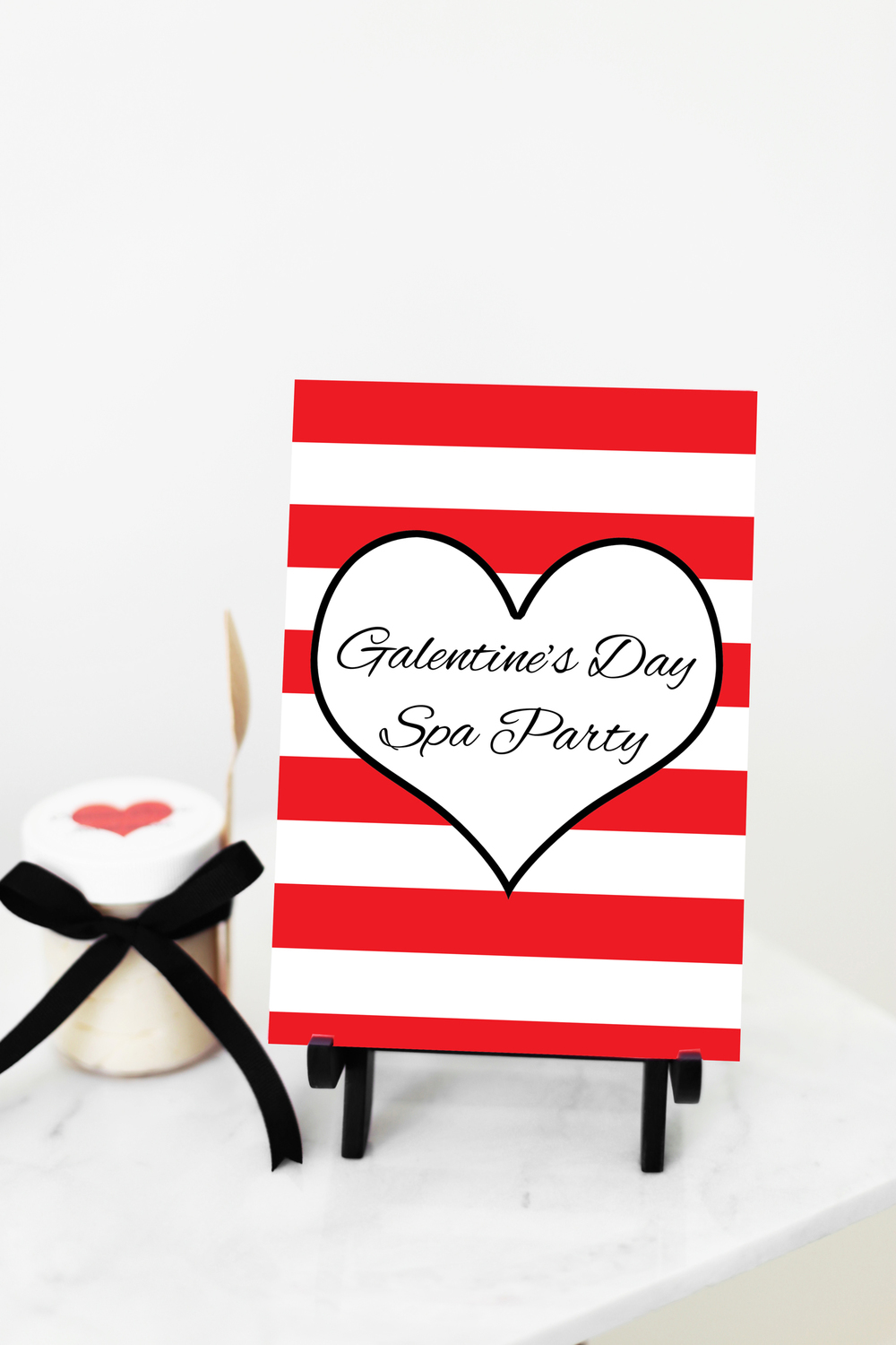 printable Galentine's Day party sign