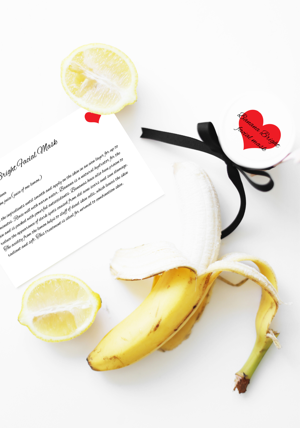 banana facial mask recipe spa party ideas
