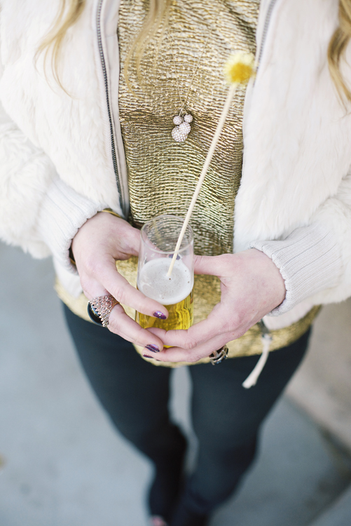 DIY gold drink stirrer