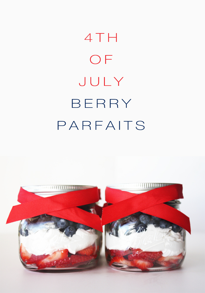 4th of July berry parfaits