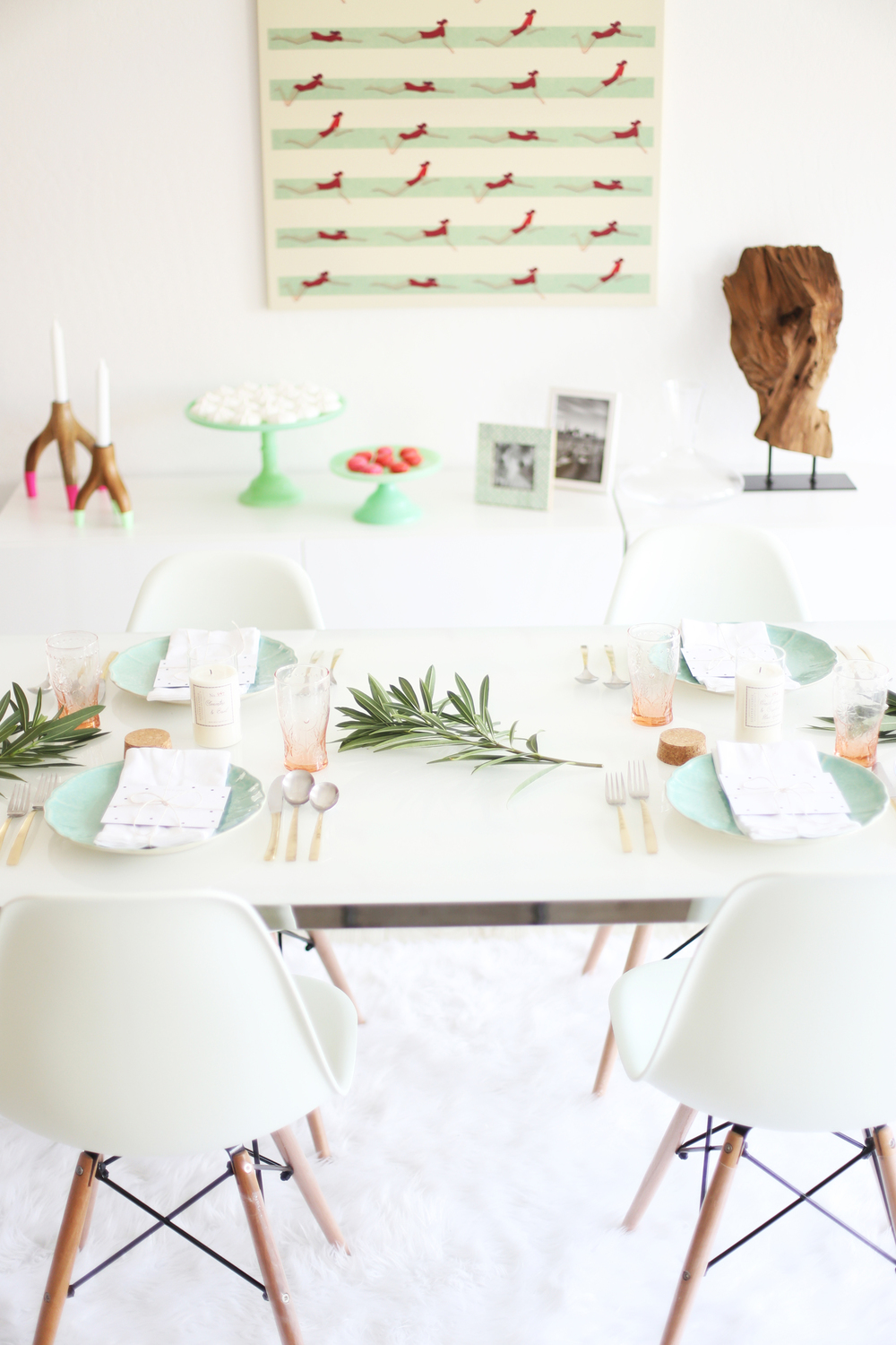 pink and mint party ideas