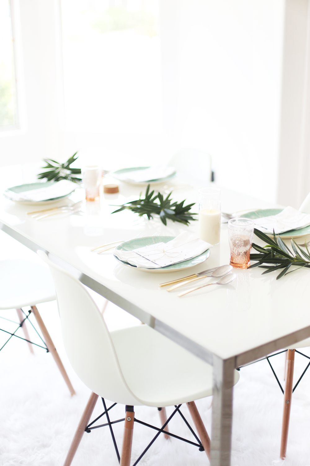 pink and mint table ideas