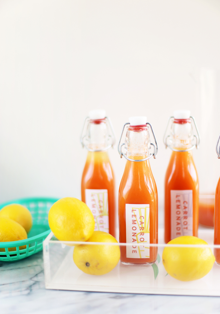 Carrot Lemonade Favors